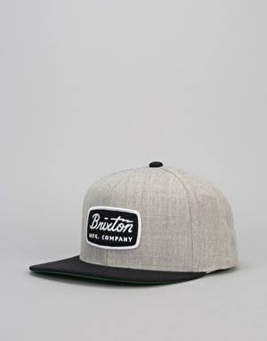 Brixton Jolt Snapback Cap - Light Heather Grey/Black