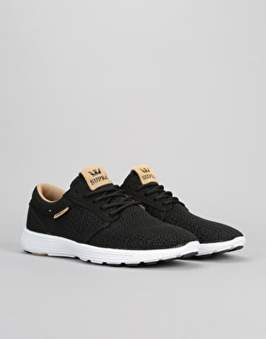 Supra Hammer Run Shoes - Black/Tan/White