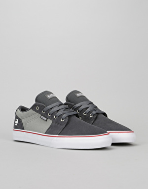 Etnies Barge LS Skate Shoes - Dark Grey/Grey/Red
