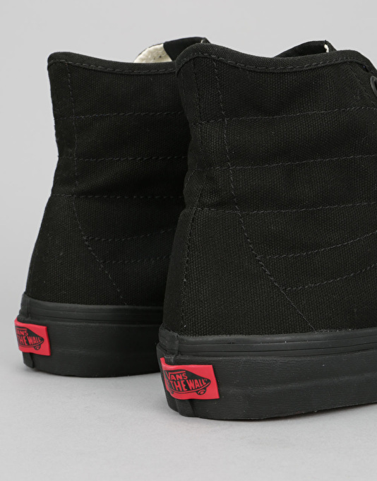 Vans Sk8-Hi Decon Skate Shoes - (Canvas) Black/Black