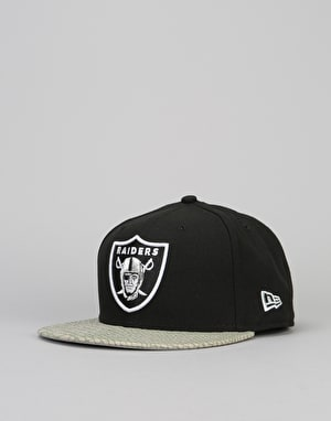 New Era 9Fifty NFL Oakland Raiders Reptviz Snapback Cap - Black/Grey