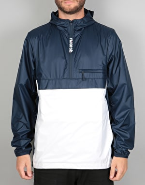 Nike SB Packable Anorak Jacket - Dark Obsidian/White