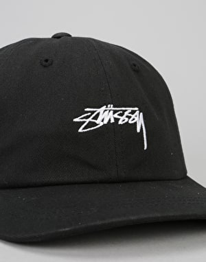 Stüssy Smooth Stock Low Snapback Cap - Black