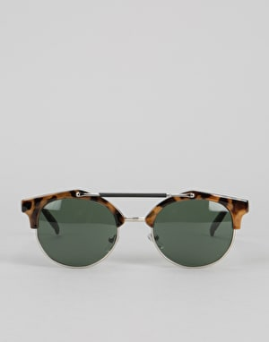 Route One Top Bar Sunglasses - Tortoise/Blue Lens