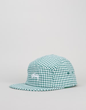 Stüssy Gingham Stock 5 Panel Cap - Green