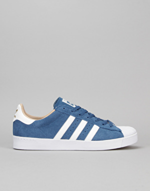 Adidas Superstar Vulc ADV Skate Shoes - Core Blue/White/Gold Metallic