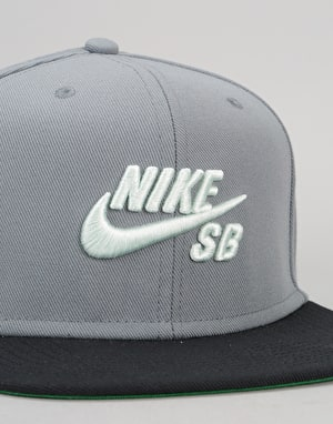 Nike SB Icon Snapback - Cool Grey/Black/Pine Green/Barley Green