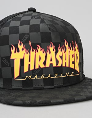 Vans x Thrasher Trucker Cap - Black