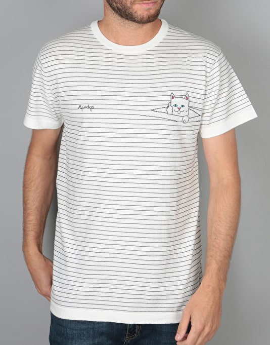 RIPNDIP Peeking Nermal T-Shirt - White Stripe
