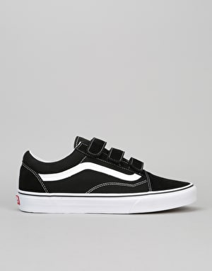 Vans Old Skool V Skate Shoes - (Suede/Canvas) Black/True White