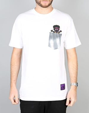 Grizzly x Jimi Hendrix Jimi Bear Pocket T-Shirt - White