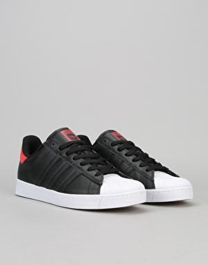Adidas Superstar Vulc AdvSkate Shoes - Black/Scarlet/White