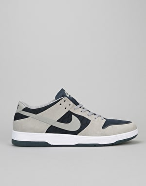 Nike SB Zoom Dunk Low Elite Skate Shoes - Medium Grey/Obsidian/White