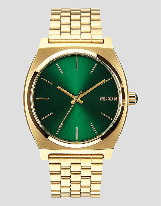 Nixon Time Teller Watch - Gold/Green Sunray