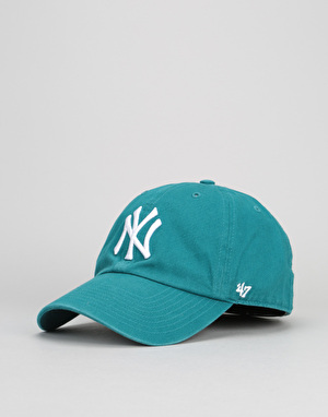 '47 Brand MLB New York Yankees Relaxed Clean Up Cap - Dark Teal