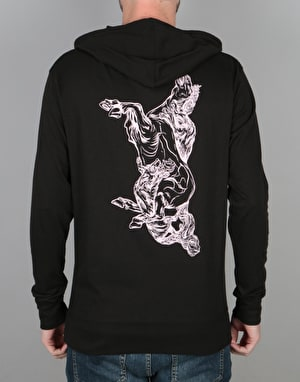 Welcome Goodbye Horses Hooded L/S T-Shirt - Black/Pink