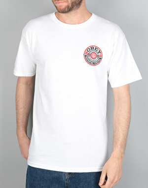 Obey Dissent MFG Wreath T-Shirt - White