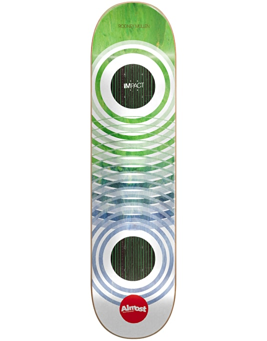 Almost Mullen OG Trans Rings Ghost Impact Skateboard Deck - 7.75""
