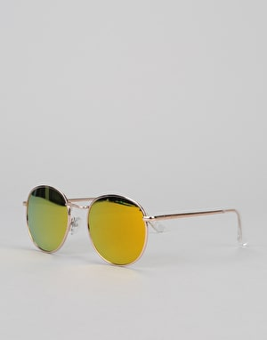 Glassy Sunhaters Carlos Sunglasses - Gold/Polarized Gold Mirror