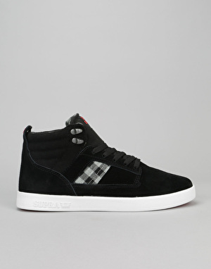 Supra Bandit Skate Shoes - Black/Plaid/White