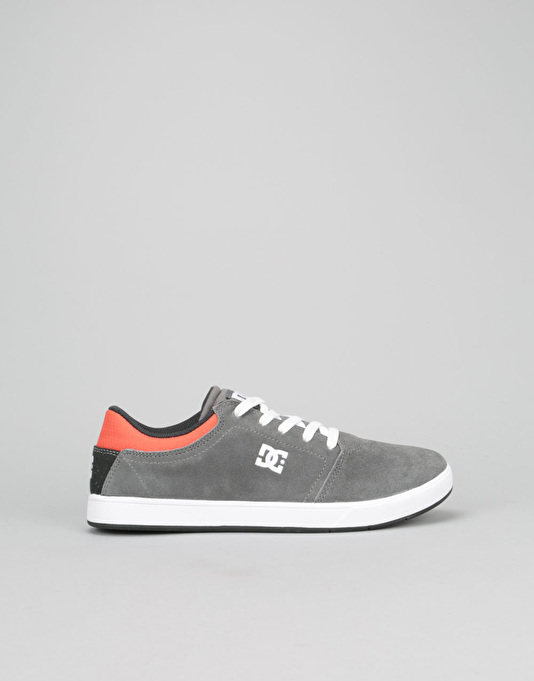 DC Crisis Boys Skate Shoe - Grey/Black/Orange