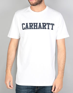 Carhartt S/S College T-Shirt - White/Navy