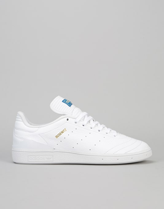 f1c2558aeb92 Adidas Busenitz RX Skate Shoes - Ftwr White Gold Metallic Bluebird ...