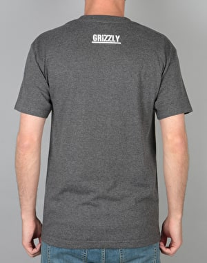 Grizzly OG Land & Waters T-Shirt - Charcoal