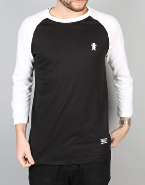 Grizzly OG Bear Two Tone Raglan T-Shirt - Black/White