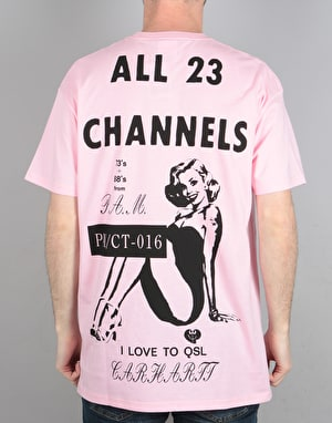 Carhartt x P.A.M S/S Radio Club All Channels T-Shirt - Pink