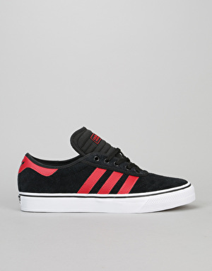 Adidas Adi-Ease Premiere ADV Skate Shoes - Black/Scarlet/White