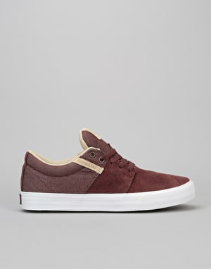 Supra Stacks Vulc II Skate Shoes - Mahogany/White