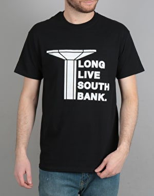Long Live Southbank Logo T-Shirt - Black