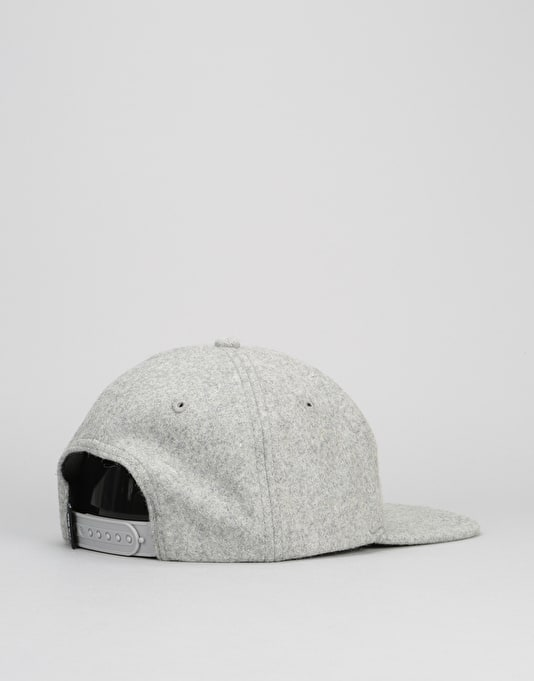 Anti Hero Eagle EMB 6 Panel Snapback Cap - Heather Grey