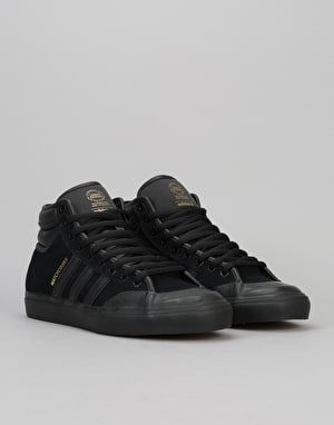Adidas Matchcourt High RX2 Skate Shoes - Core Black/Core Black Gold