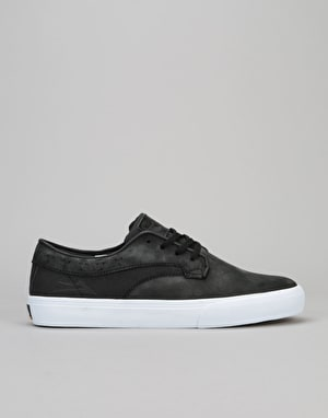 Lakai Riley Hawk Skate Shoes - Black Oiled Suede