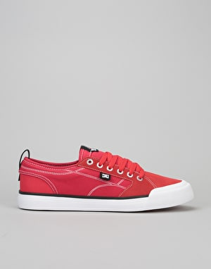 DC Evan Smith S Skate Shoes - Red/White