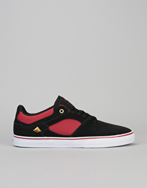 Emerica The Hsu Low Vulc Skate Shoe - Black/Red