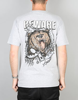 Grizzly Destroy T-Shirt - Heather Grey