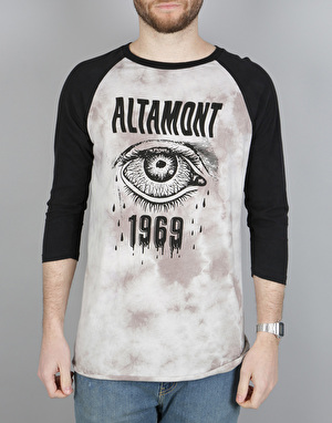 Altamont Bleeding Eye Raglan T-Shirt - Black/Grey