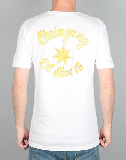 DC Chain Gang Script T-Shirt - Snow White