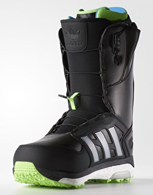 Adidas Energy Boost 2017 Snowboard Boots - Black/Tech Silver/Green