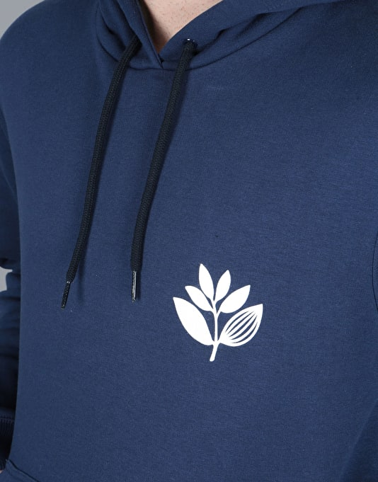 Magenta Plant Pullover Hoodie - Navy
