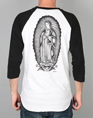 Santa Cruz x Jason Jessee Guadalupe Baseball T-Shirt - Black/White