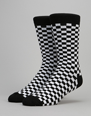 Route One Checker Socks - Black/White