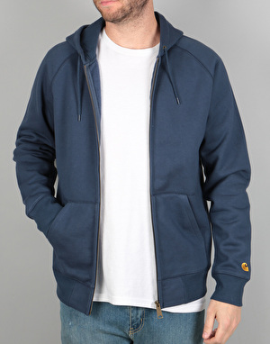 Carhartt Hooded Chase Jacket - Blue/Gold