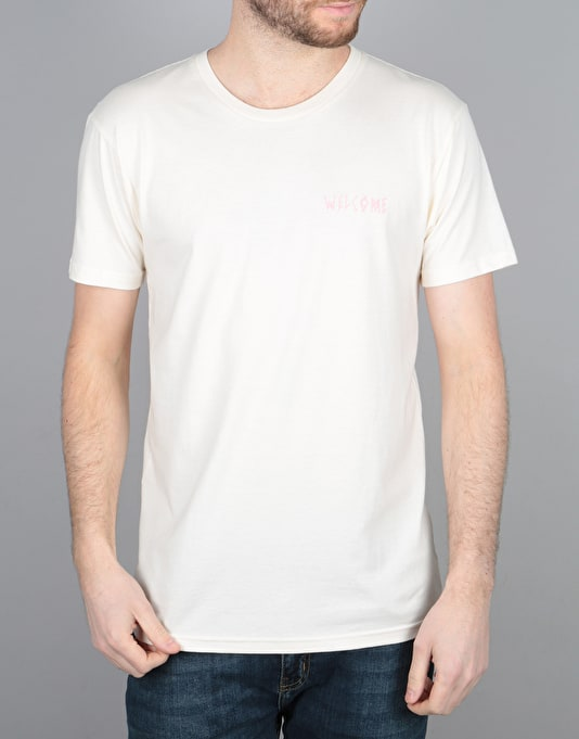 Welcome Symbol T-Shirt - Natural/Pink