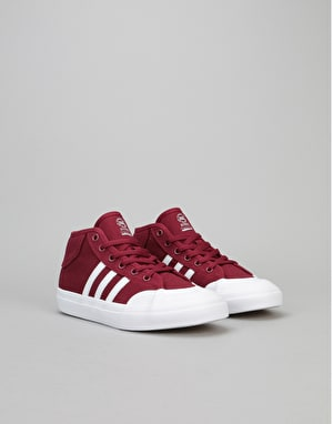 Adidas Matchcourt Mid Boys Skate Shoes - Collegiate Burgundy