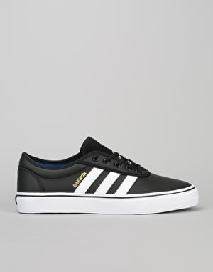 Adidas x Daewon Adi-Ease Skate Shoes - Black/White/Gold Metallic