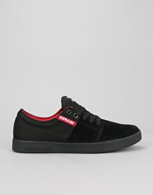 Supra Stacks II Skate Shoes - Black/Red/Black